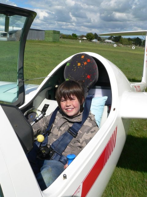 A happy young aviator - photo by Daniel Farley